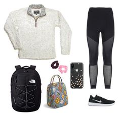 """""""Untitled #64"""" by ashlynnebagnal ❤ liked on Polyvore featuring adidas, NIKE, The North Face, Vera Bradley, Kate Spade and Mudd"""