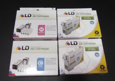 Epson T126 Set of 4, T126220 T126320 T126420 Recycled Ink Cartridge outdated  #Epson