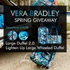 #WIN a Vera Bradley Large Duffel 2.0 and Lighten up Large Wheeled Duffle. #GIVEAWAY Ends 3/30/16.   http://gvwy.io/71dfq6m