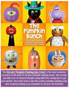 DecoArt's Pumpkin Painting Idea Center