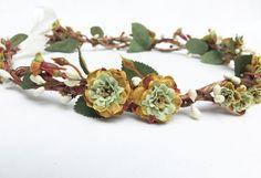 St. Patricks Day Flower Crown Rustic Green by BloomDesignStudio