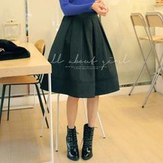 Elastic-Waist Pleated Skirt from #YesStyle <3 REDOPIN YesStyle.com