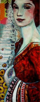 The Lady- mixed media art on canvas- leo-Vinh- 2013