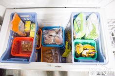 Our Chest Freezer Organization System || Practically Functional