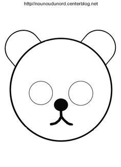masque ours, Winnie l'ourson, petit ours brin  et d'autres modèles à imprimer cliquez sur mon lien http://nounoudunord.centerblog.net/4209-masques-a-imprimer-classes-par-ordre-alphabetique