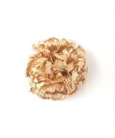metallic gold pom pom flower