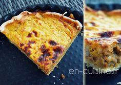 Recette tarte au potimarron, châtaignes et lardons au Thermomix