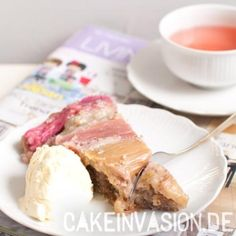 #UpsideDown – Rhabarberkuchen (vegan, laktosefrei)