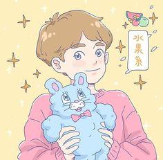 Sweet Drawings, Cute Couple Drawings, Anime Drawings Sketches, Pretty Art, Cute Art, Character Illustration, Graphic Illustration, Anime Manga, Anime Art