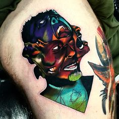 Tattoo artist Andrew Little Andy Marsh authors abstract color surrealistic tattoo | UK