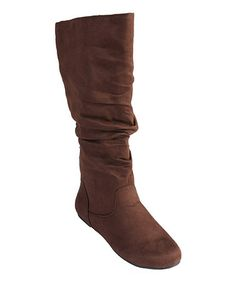 Take a look at this Brown Rebecca Boot by Journee Collection on #zulily today! $28 !!