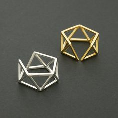 Geometric Triangles Band Ring / triangle ring by silverholic