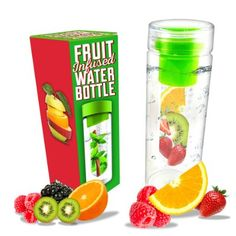 Voted #1 Infuser Water Bottle 28 ounce - NEW Fruit Infusion Water Bottle made with Eastman Tritan that is leak proof and dishwasher safe - Infuse your Flavored Water with Mint, Lemon, Strawberry or Tea - BONUS Fruit Infuser Recipe Ebook Included
