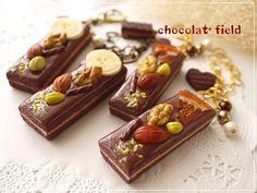ショコラ*フィールド 「チョコレートスティックケーキのバッグチャーム」