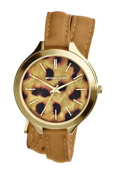 Women's Slim Runway Cheetah Wrap Watch by MICHAEL Michael Kors on @nordstrom_rack
