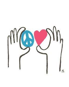 Peace + Love Print -  - Print - Christopher David Ryan - CDR