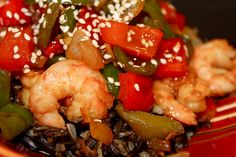 Sweet and Spicy Shrimp and Peppers- simple, healthy, and delicious!!