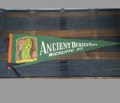 Vintage Souvenir Pennant Ancient Buried City Kentucky by VintageJunkiesREO on Etsy
