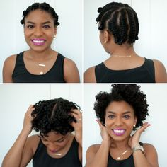 Flat Twist Out on Short Hair: Photo Tutorial | via The Feisty House