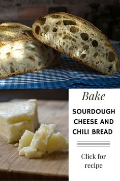 Recipe for sourdough cheese and chili bread with polenta covered crust. Jalapeno and Machego cheese gives flavors to this delicios bread. Polenta, Chili, Cheese, Sourdough Bread, Baking, Olives, Recipes, Food, Yeast Bread