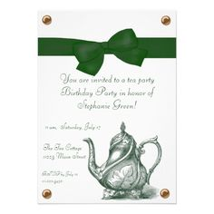 Birthday Tea Party Invitation