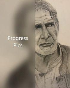 Work in progress pics Graphite Drawings, Artwork Design, Original Artwork, Sketch, Star Wars, Movies, Poster, Shirts, Pencil
