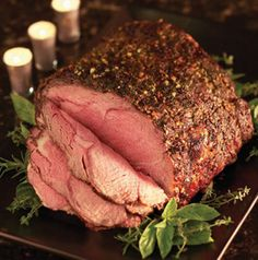Christmas dinner doesn't get any easier than this. All you do to make an Herb-Crusted Ribeye Roast is rub it with fragrant mixture of herbs and garlic and roast it. Done!