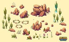 MinoMonsters Desert Assets by hellcorpceo on deviantART