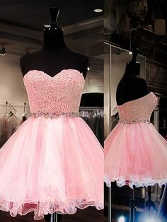 Pink Homecoming Dresses Short Prom Dresses for Teens, Ball Gown Formal Dresses Tulle, Sweetheart Cocktail Party Dresses with Beading Freshman Homecoming Dresses, Modest Homecoming Dresses, Prom Dresses For Teens, Tulle Prom Dress, Modest Dresses, Formal Dresses, Short Dresses, Ball Gowns Prom, Ball Dresses