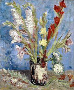 Vincent Van Goh, 'Gladiolos'.