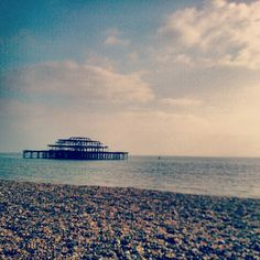 The remains of the old Brighton pier :( lovely photo though!