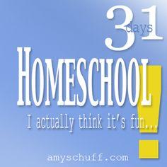 31 days of actually enjoying homeschool by Amy Schuff