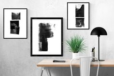 06771193fcb Abstract Art Print Set of 3 Digital Downloads by MinimalInstant White Wall  Decor