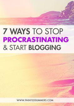 7 Ways to Stop Procr