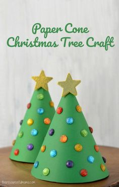 This Paper Cone Christmas Tree Kid Craft added some dimension to our crafting and resulted in a lovely kid made Christmas decoration.