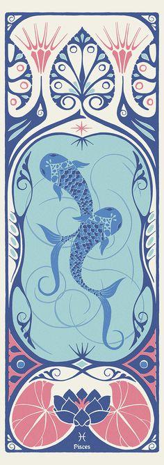 New Art Nouveau Door Shape 67 Ideas Gemini, Astrology Pisces, Art Nouveau Poster, Poster Design, Photoshop, Looks Vintage, Old Art, Simple Art, Les Oeuvres