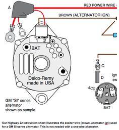 1 Wire Gm Alternator Diagram – Car Parts & Wiring Electric Car Engine, Electric Motor, Cleaning Car Upholstery, Engine Working, Trailer Hitch Accessories, Engine Repair, Truck Repair, Car Fix, Subaru