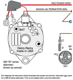 GM 3 wire alternator idiot light hook up Hot Rod Forum