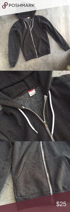 American Apparel Grey Hoodie Grey American Apparel hoodie. Size XS. Worn for a season. American Apparel Jackets & Coats
