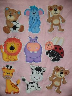 Recuerditos Para Baby Shower En Foami,animales Safari Foamy - BsF ...