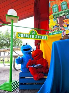 Rustic Whimsical Sesame Street Birthday Party at Kara's Party Ideas. See more at karaspartyideas.com!