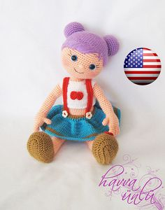 PATTERN  Purple-Haired Doll crochet amigurumi por HavvaDesigns