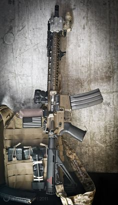 """LaRue Tactical – Costa Edition OBR FDE 14.5"""" pinned surefire break with PredateAR handguard, aimpoint micro, and sure fire 60 round mag"""