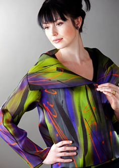 """Peggotty Christensen - artist - these colors are so electric to me .... www.peggottyartwear.com ... treat your self to a """"look see"""" ... WOW"""