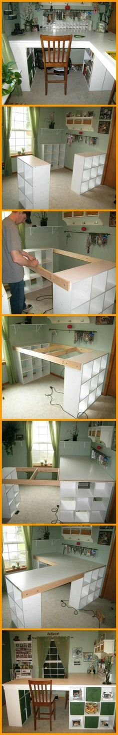 Craft table ideas sewing rooms bookcases 40 Super Ideas - Image 7 of 20