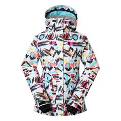 aeb519600f Gsou Snow Women s Waterproof Windproof Colorful Ski Snowboard Jacket