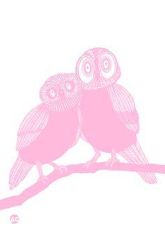 Ugglorna i rosa från Anna Grundberg hos ConfidentLiving.se