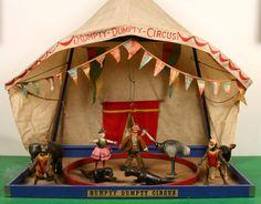 Susan's Circus Vintage Circus, Vintage Toys, Ruby Lane, Circus Room, Circus Crafts, Victorian Toys, Dollhouse Toys, Humpty Dumpty, Wedding Tattoos
