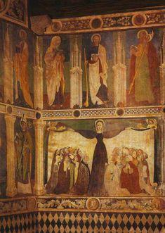 Il castello di Fenis- affresco di Giacomo Jaquerio e la sua scuola  -tra il 1425 e il 1430. Madonna della misericordia.