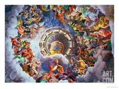The Gods of Olympus, Trompe L'Oeil Ceiling from the Sala Dei Giganti, 1528 Giclee Print by Giulio Romano at Art.com